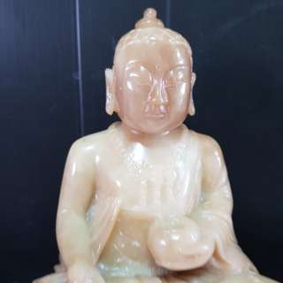 "9.5"" Vintage stone carving of Buddha."