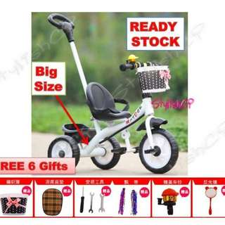 Tricycle bike baby scroller car(white)