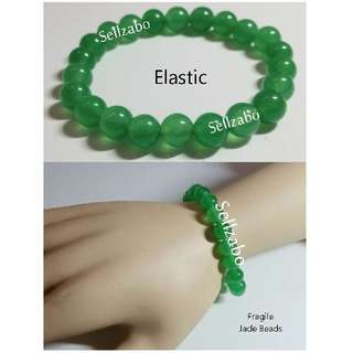 Fragile Cooling Jade Beads Elastic Bracelets Sellzabo Green Colour Hands Wrists Accessories Oriental Ladies Girls Women Female Lady