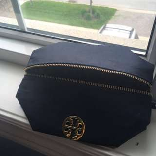 Tory Burch Makeup Bag - Navy Blue