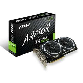 MSI ARMOR GTX 1070 TI 8GB GRAPHIC CARD GAMING