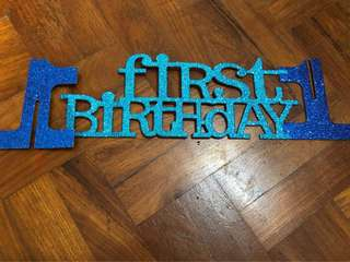 First birthday blue Table accessory