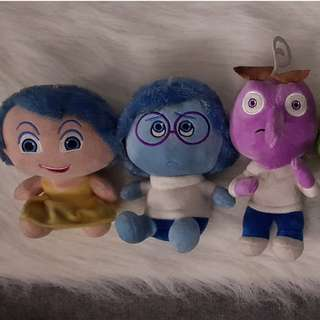 Inside Out Plushies (Whole Set)