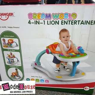 4 in 1 lion entertainer walker