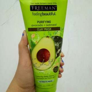 Freeman avocado+oatmeal clay mask