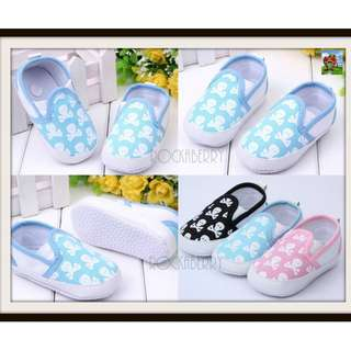 Black │ Pink │ Blue Skull Boys Girls Pre-walker Shoes - Soft