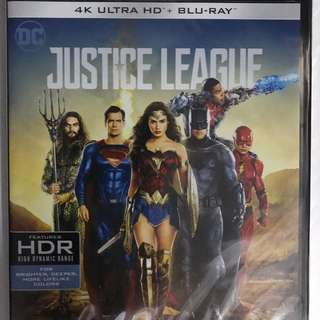 JUSTICE LEAGUE  4K+BLURAY