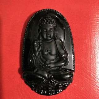 Black Onyx Buddha Charm