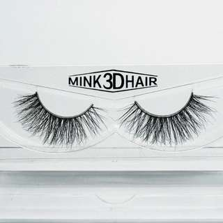 1 pair 3D Handmade Mink Eyelashes individual Natural False Eyelashes for Beauty Makeup fake Eye Lashes Extension