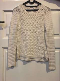 ZARA GIRLS WHITE SWEATER