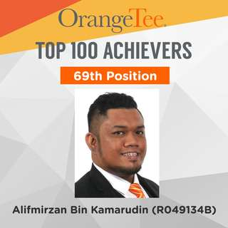 OrangeTee Top Achiever 2017: 69th Position