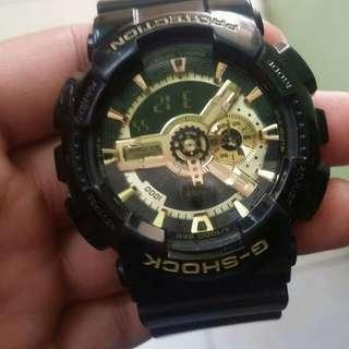 Black/Gold Gshock for sale