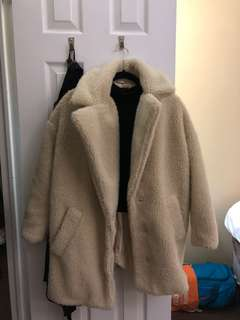 topshop cocoon jacket size 4