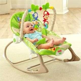 🍃🍀 Green 🌱 - 😮 New Model 😍 - Fisher Price Baby Rocker