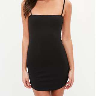 Strappy Petite Little Black Dress