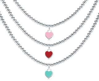 925 Sterling Silver Corresponding Hearts Popular Pendant Necklace