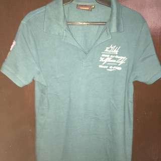 Von Dutch Blue Green Polo Shirt