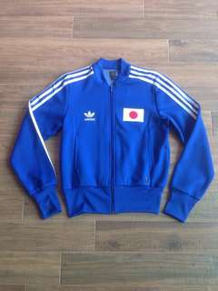 Vintage 1974 FIFA model Adidas Trefoil logo Team Nippon Japan Trainer Jacket Sz XS