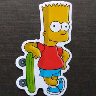 Bart Simpson The Simpsons Sticker Skateboard Luggage Laptop