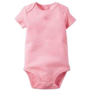BABY BASIC ROMPER (0-3 MTHS) - PRETTY PINK