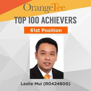 OrangeTee Top Achiever 2017: 61st Position