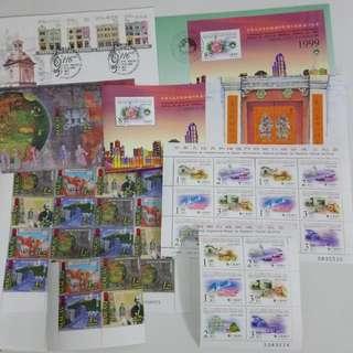 澳門郵票,首日封,小全張及小版票