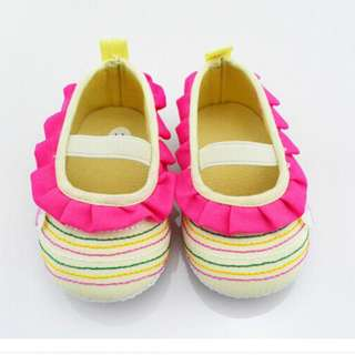 Yellow Baby Girl Pre-walker Shoes - Soft Soles