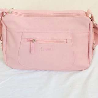 Cose baby pink bag- material like Lacoste