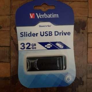 Verbatim Slider Usb Drive 32GB