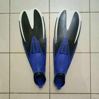 Arena blue-black Fins/Flippers with bag