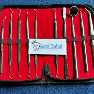 Dental instrument kit 10pc dompet dentica