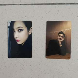 (Free postage) victoria and siwon photocard