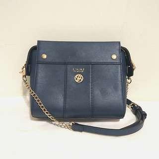 Saime 東京企劃 藍色側背小包