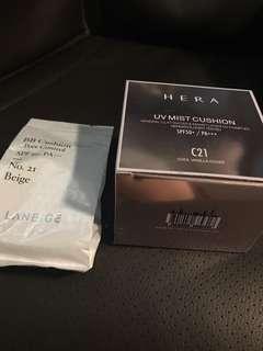 HERA UV Mist cushion / Laneige BB cushion refill