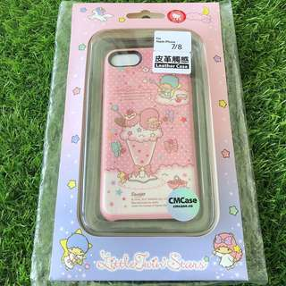 原裝Sanrio正品 Little Twin Stars iPhone 7 8 Leather Case 皮革保護套
