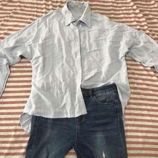 Queenshop長版襯衫