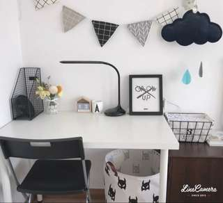 Black and white bunting