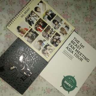 HIGHLIGHT OFFICIAL THe 1st BEAST B2ST FAN MEETING ASIA TOUR PROGRAM BOOK,Season Greeting OFFICIAL 2012 Calendar,Beast The First Album FICTION and FACT
