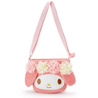 Japan Sanrio My Melody Kids Basket style Shoulder Pouch
