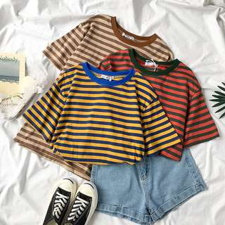 Instock Striped Oversized Top