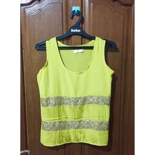 Miss Selfridge Neon Top