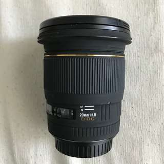 Sigma 20mm f1.8 EX DG RF Aspherical Super Wide Lens