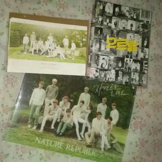 Photocard EXO OFFICIAL Nature Republic SUHO LUHAN, UNOFFICIAL CHANYEOL EXO The First Album XOXO Repackage KOR Ver (With Tao photocard&poster (fold) EXO OFFICIAL Nature Republic 2014 Calendar,Poster (FOLD), A4 Clearfile