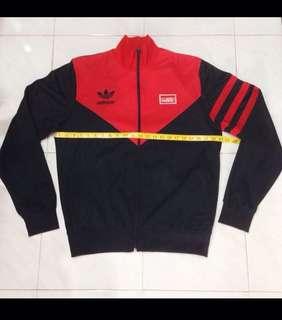 Original Vintage 80's Adidas Trefoil Logo Three Stripes Trainer Jacket Sz L Gosha Thom Browne Street Style