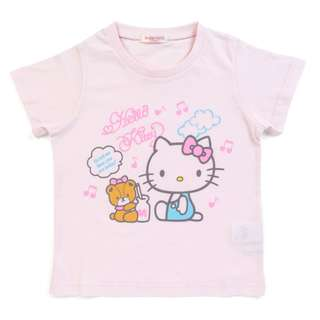 Japan Sanrio Hello Kitty Kids T-shirt (note)