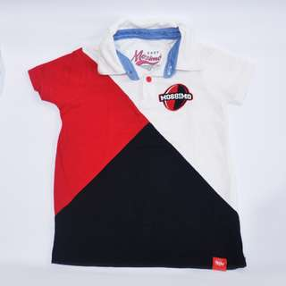 Baby Mossimo 1 - 2.5 yrs old Red Black White Boys Polo Shirt