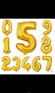 """Balloon Foil Number - 16"""" and 32"""""""