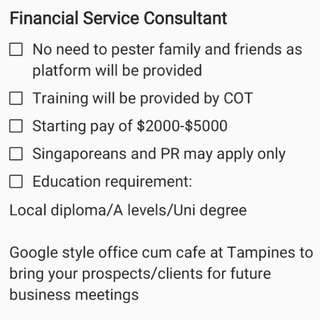 Financial Service Consultant