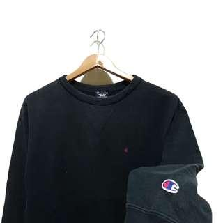 Sweatshirt sweater crewneck champion builtup black mini logo