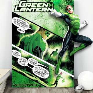 Green Lantern Acrylic Pop Out (For deco)